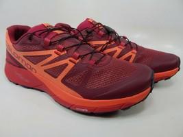Salomon Sense Ride Talla 9.5 M (B) Eu 42 Mujer Trail Running Zapatos Rojo 398486 - $78.97
