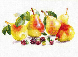 Cross Stitch Kit Hand Embroidery Flowers Pears - $23.80