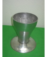 Vintage Detachable Pewter Metal Flower Pot Or Large Candle Holder - $18.65