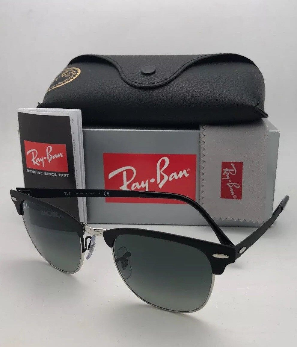 36b87e90a1181 RAY-BAN Sunglasses CLUBMASTER METAL RB 3716 9118 71 51-21 Black
