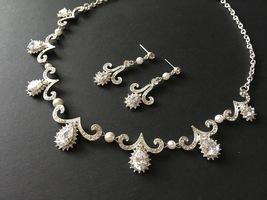 Victorian necklace, crystals necklace, bridal necklace, wedding jewelry,... - $38.88