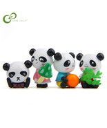 Anda action toy figures panda model diy micro landscape multi meat gardening landscape thumbtall