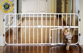 Baby Adjustable Extra Wide Walk Carlson Pet Safety Gate Fence Small Door... - $23.27