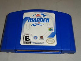 Madden NFL 2001, Game Only w/ End Label, Nintendo 64 - $5.99