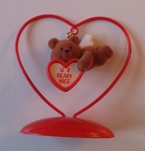 Avon Valentines Day Ornament Love Notes Bear. The Gift Collection NOS - $6.79