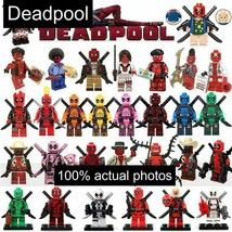 Deadpool Marvel Avengers Superheroes Compatible Minifigs Minifigure New For Lego - $0.98+