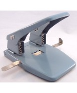 Vintage 2 Hole Gray Steel Paper Punch - $9.99
