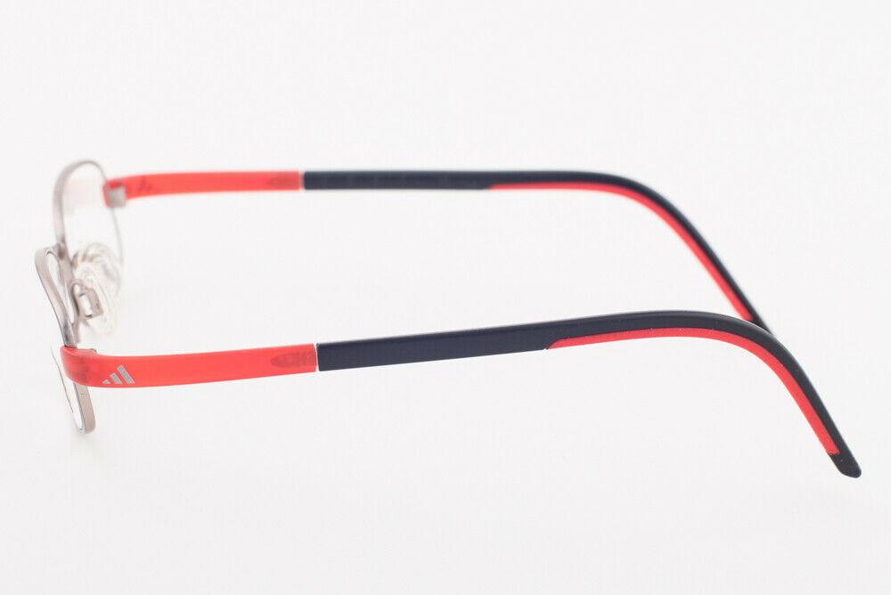 Adidas AD999 40 6052 LiteFit Red Black Silver Eyeglasses AD999 406052 45mm