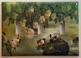 Chinese Printing Ducks Flower Light Switch Outlet wall Cover Plate Home Decor image 4