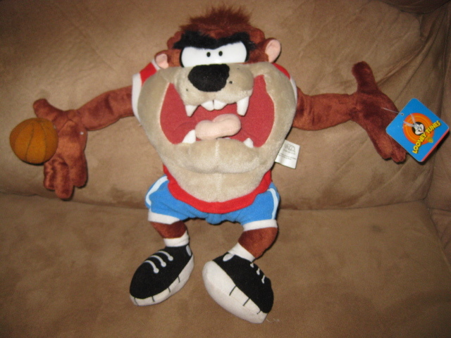 "Primary image for 2001 TAZMANIAN DEVIL TAZ BASKETBALL New Licensed Plush 13"" Looney Tunes RARE!"