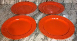"Royal Norfolk 10 1/2"" Lunch/Dinner Plates Set Of 4 Orange(New)SHIP N 24 ... - $39.48"