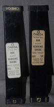 2 Lady's Vintage Omega Black Suede Oem Factory Watch Straps W/LOGO Buckles - $39.59