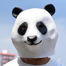 Fantasy Cute Panda Latex Full Head Mask Halloween Cool Cosplay Props Unisex - £21.51 GBP