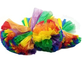 "3 Rainbow Car Limo decor hanging balls Plastic Pom Poms Flower 8"" 12"" 16"" - $18.80"