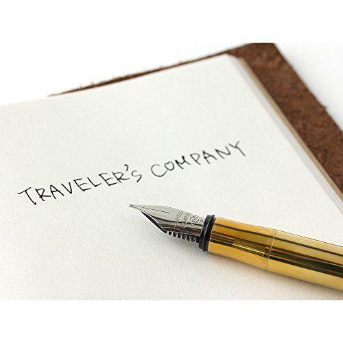 Made in Japan! TRC Traveler's company Solid Brass Fountain Pen Fine nib 38071006