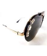 PRADA Women's Sunglasses PR52US Pale Gold Round Metal MADE IN ITALY - New! - $285.00