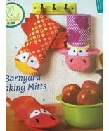 Ellie Mae Designs Sewing Pattern K188 K657 Barnyard Baking Mitts Cow Pig Chicken - $14.54