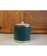 Vintage Kraftware GREEN Ice Bucket Elegance Mid Century Hollywood Regenc... - $21.77