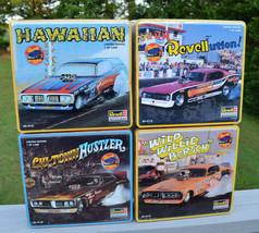 Revell Drag Car Model Set Wild Willie Borsch Hawaiian Limited Edition Tin Boxes - $203.55
