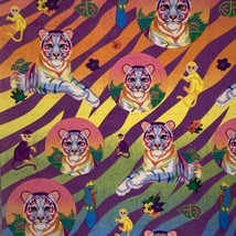 S363 Mint Lisa Frank  Rainbow White Tiger Stickers Full Sheet Rare HTF image 2