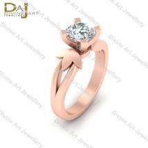 VVS-VS Clarity White Moissanite Solitaire Engagement Ring Bridal Wedding... - £177.82 GBP