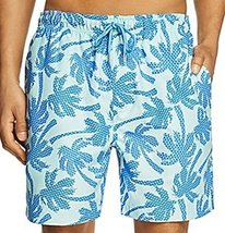 Southern Tide Men's Island Palm Swim Trunks, Offshore Green (S)