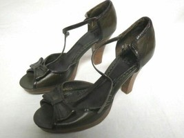 Tribeca Kenneth Cole Heels Size 9.5 Green Leather Shoes - $23.95