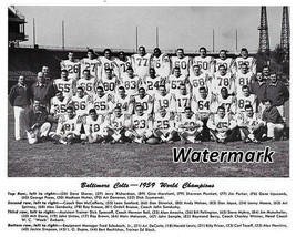 NFL 1959 Super Bowl World Champs Baltimore Colts Team Picture 8 X 10 Pho... - $4.99