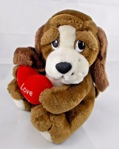 "Russ Dog Darvis Plush Hound Puppy I Love You Heart 7.5"" Stuffed Animal toy - $7.95"