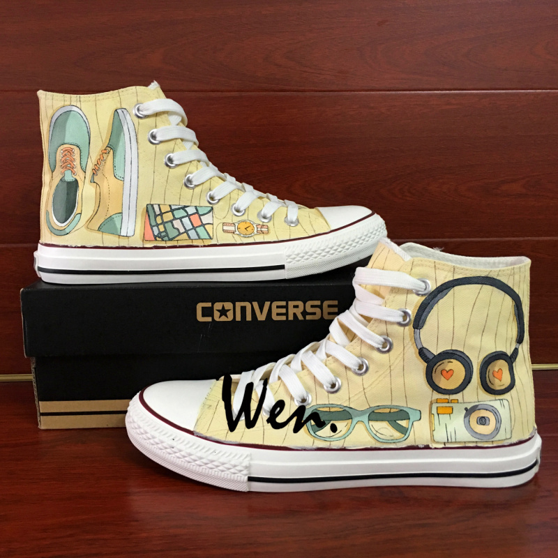 Unisex Converse All Star Shoes Hand Painted Popular Accessories Canvas Sneakers