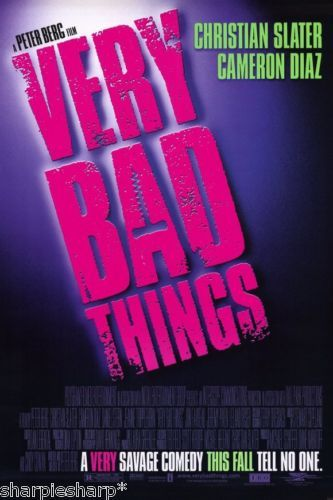 1998 VERY BAD THINGS Peter Berg Jon Favreau Title Movie Promotional Poster 13x20