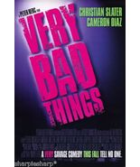1998 VERY BAD THINGS Peter Berg Jon Favreau Title Movie Promotional Post... - $7.99