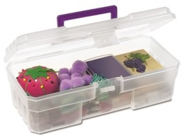 Akro-Mils 09912 CLPUR 12-Inch Plastic Art Supply Craft Storage Tool Box,... - $13.22