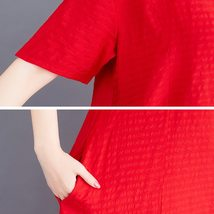 Maternity Dress O Neck Loose All Match Chic Breathable Mom Dress image 7