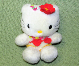 "7"" Vintage Sanrio Smiles Hello Kitty Hearts And Flowers With Floral Crown Plush - $24.75"