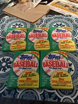 1991 Topps Baseball Cards Lot Of 5 Unopened Sealed Wax Packs Straight Fr... - $22.28