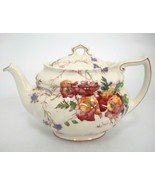 Vintage Royal Doulton Sherborne Teapot w Lid Scalloped Crazing Chip Spou... - $24.74