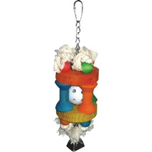 A&E Cage Assorted Happy Beaks Wiffle Ball In Solitude Bird Toy 3.5x10 In... - £16.36 GBP