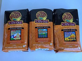 "Bundle-3 items: HEB Cafe Ole Whole Bean Coffee-""Taste of Central Texas"" (San Ant - $44.52"