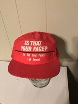 Orange Trucker SnapBack Funny Is That Your Face or Did Your Pants Fall D... - $7.42
