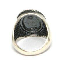 Silver Ring 925, Sacred Heart Mary Jane, Effect Antique, Burnished, Band image 3