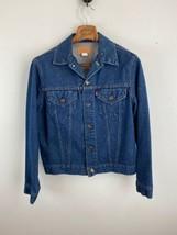 Vintage Mens Jeans Jacket 42 L Large Blue Denim Made in USA - $98.99