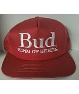 Vintage Anheuser Budweiser King of Beers SnapBack Trucker Hat Red New - $22.99