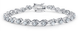 XOXO Hugs Kisses CZ Tennis Bracelet For Women For Girlfriend Cubic Zirco... - $275.86