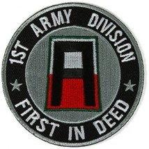 1st Army Division Patch First In Deed - 3x3 inch ! - $9.89