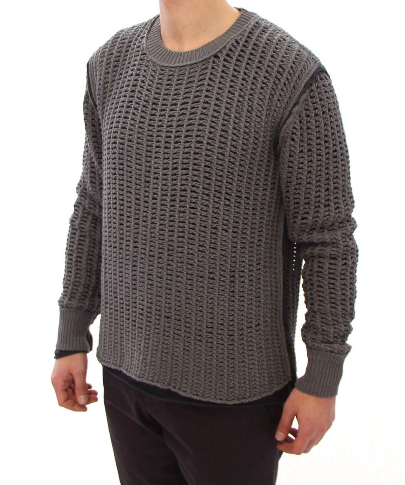 Dolce & Gabbana Gray Runway Netz Pullover Netted Sweater