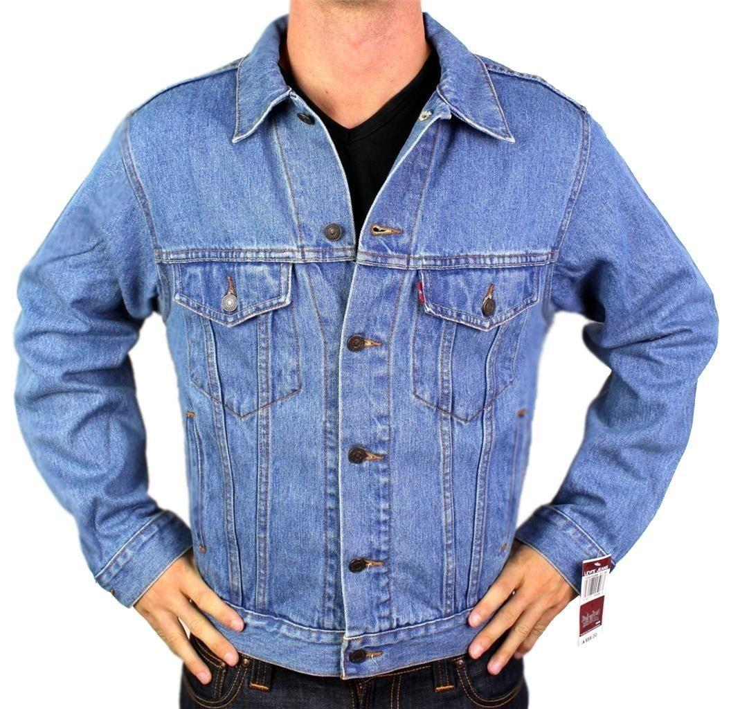 New Levi's Strauss Men's Premium Classic Cotton Button Up Denim Jean Jacket 0042