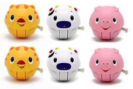 Special 6 Pack of Rolling Animal Ball Doll Toys Featuring 2 Cats 2 Cows ... - $55.14