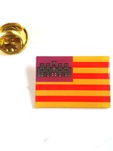 majorca Flag  lapel pin  handmade in uk from uk made parts, boxed tie,lapel pin