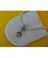 NEW Disney Princess Theme Dangle Charm - Belle's Tiara Crown, silver pla... - $9.99